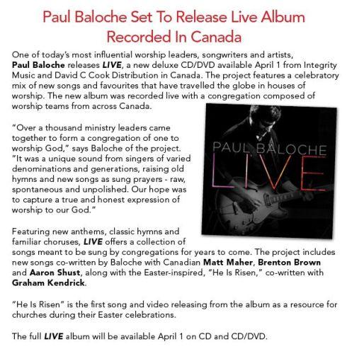 Baloche Live