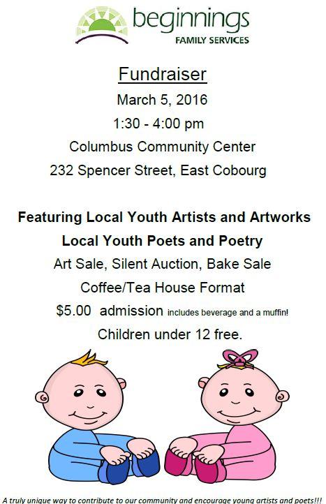 Beginnings Art and Poetry Sale