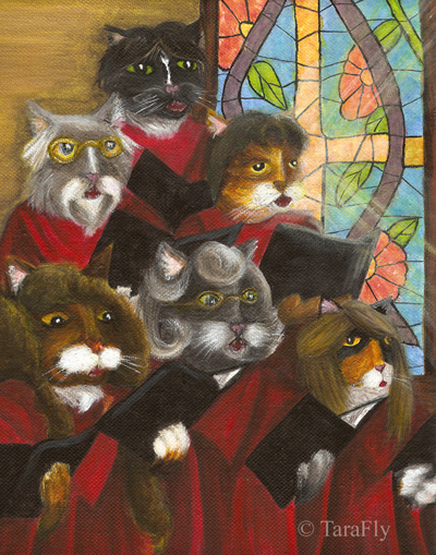 Church Choir Cats