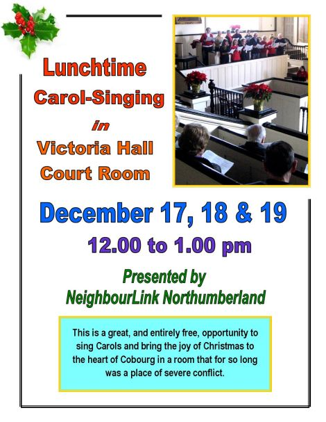 lunchtime carol sing 2014