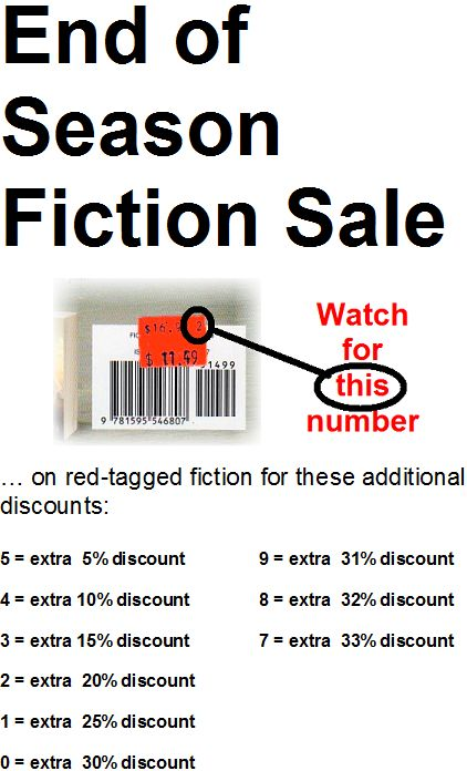 End of Season Fiction Sale