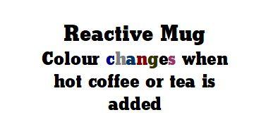 Reactive Mug Signage